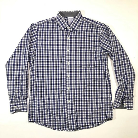 Brooks Brothers 1818 16-34 Plaid Dress Shirt